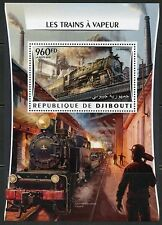 Djibouti 2016 Great Steam Trains Souvenir Sheet Mint Never Hinged