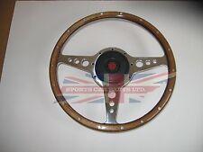 "New 13"" Wood Steering Wheel & Adaptor MG Midget 1970-1977  Moto-Lita Moto Lita"