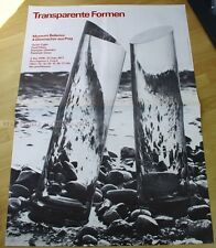 SWISS EXHIBITION XXL POSTER 1977 - TRANSPARENT SHAPES - 4 CZECH GLASSMAKER