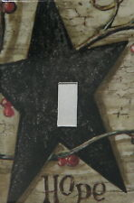 Black Barn Star Hope Single Switch plate cover