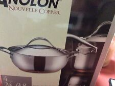 Covered Casserole 4-Quart Anolon Nouvelle Copper Refined Stainless