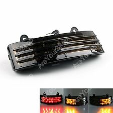 Tri-Bar Fender LED Brake Feu Arrière + Clignotants Lamp Pour Harley FLHX Touring