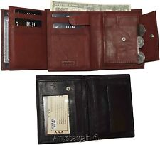 Ladies Leather wallet 2 Flip side pieces 8 card slots 3ID Zip coin case Lot of 2