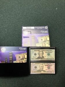 Evolutions Series 2004 $20 and $50 Matching Set - Chicago Serial #00002327