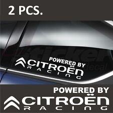 2 pcs. Powered by Citroen Racing Stickers decals Berlingo C1 C2 C3 C4 C5 C6 C8 P