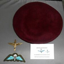 BRITISH PARACHUTE REGIMENT  BERET & 3 BADGES