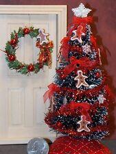 Dollhouse Miniature Christmas Tree Wreath Set Ginger B 1:12 1 inch scale  G86