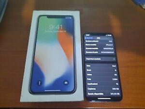 Apple iPhone X - 256GB - Argento (Sbloccato)