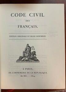 Code Civil Des Français - Édition Originale et Seule Officielle - 1996
