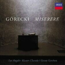 "GRANT LOS ANGELES MASTER CHORALE/GERSHON ""MISERERE"" CD NEW+"