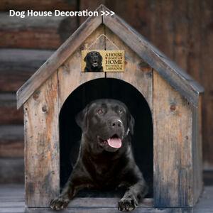 Rectangular Wooden Dog Sign Plaque Pet Cat Animal Hanging Home House Wall Decor