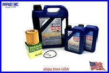 BMW Oil Filter Change Kit Mann HU816X Filter Liqui Moly LM2332 LM2331 5w40 7L