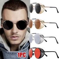 Punk Mirror Lens Round Sun Glasses Goggles Steampunk Sunglasses Vintage Retro