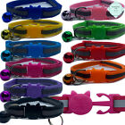 Cat Collar Quick Release Reflective Kitten Safety Breakaway Adjustable with Bell