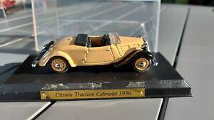 ATLAS 1/43 Voitures d'exception Citroën traction cabriolet 1936 no eligor solido