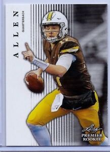 Josh Allen 2018 Foglia Premier Rookie Card #10 ! Wyoming/Buffalo Bills
