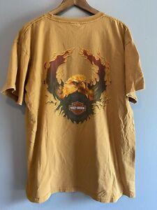 harley davidson dayton ohio eagle flames t shirt mens size xl