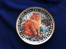 "Danbury Mint Cats! ""Dandelion"" plate (minor rim gilt wear)"