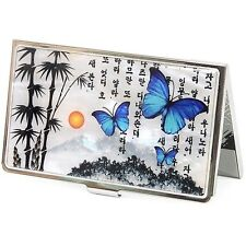 Business Card Holder ID Credit Card Case Korea Mother of Pearl LandscapeC40