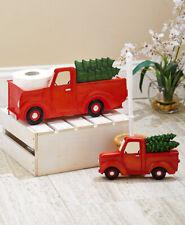 Novelty Retro Blue Camper Toilet Brush Holder Red Truck Toilet Paper Holder
