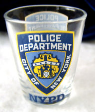 NYPD New York City Police Department Shot Glass 2006 / Clear Glass