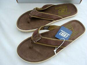 Skechers Men's Sandals Size 11 Brown Flip Flops New 62781