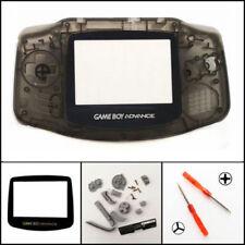 GBA Nintendo Game Boy Advance Replacement Housing Shell GLASS Screen Clear Black
