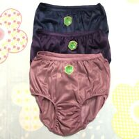 Panties Plus Size XL Silky Nylon Briefs Loose Soft Comfortable Hi-Cut Vintage