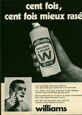 Publicité ancienne mousse à raser Williams 1970 issue de magazine