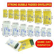 More details for gold white arofol genuine bubble padded envelopes post mail lite bags all sizes