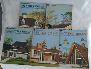 5 Home Planners Inc Books 1, 1 1/2 And 2 Story, Multi-Level, Vacation Home Plans