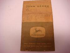 "Vintage Empty John Deere Parts Bag 4 Legged Deer 4"" x7"" Sign Advertising  JDM052"