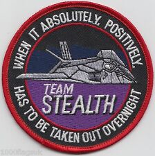 F-117 Nighthawk Stealth Attack USAF US Air Force Embroidered Badge Patch