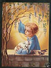 """Antique Vintage Catholic Print  JESUS as a young Boy - ready to be framed 4x6"""""""