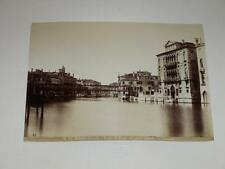 NAYA / VENISE VENEZIA 1870 Palazzo Cavalli Ponte di Ferro VINTAGE Albumen Print