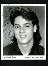 Michael Bays Signed Autographed 8 x 10 Photo Julio Days of Our Lives