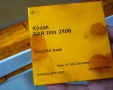 RARE DOUBLE PERF B&W BLACK & WHITE 16mm X 100 FEET ON CORE KODAK RAR FILM