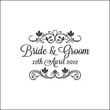Personalized Wedding Handle Mounted Custom made name rubber stamps W17 gifts