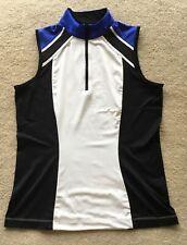 TAIL Ladies Sleeveless Mock Golf Shirt, size S.
