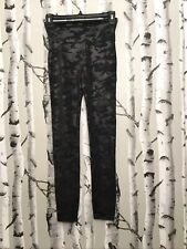 Spanx Faux Leather Camo Legging: Size S: Black #20185R (129)