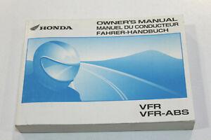 HONDA Livret Utilisation et Entretien Pour VFR800 2002