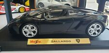 Maisto Special Edition Black Lamborghini Gallardo 1:18 Scale Diecast Model New