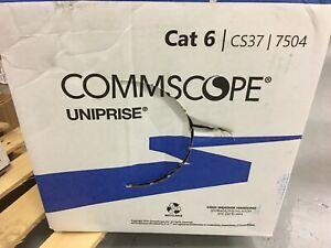 Commscope UN874049714/10 CS37P Cat 6 U/UTP Cable, Plenum, White 1000ft