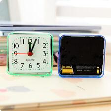 Square Mini Quartz Beep Alarm Clock Cute Portable Travel Table Bedside Clocks