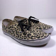 73f1a6a59808 VANS Canvas Lace Up Leopard Print Skate Shoe Sneakers Size Men 13
