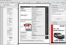 SUZUKI GRAND VITARA XL7 2001 - 2006 FACTORY OEM SERVICE REPAIR WORKSHOP MANUAL