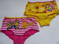 Minions Mädchen Unterhosen Slips Panties 2er Pack Gr. 116/122