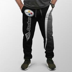 Pittsburgh Steelers Men's Drawstring Jogger Pants Sports Trousers Sweatpants