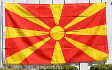 Big 1.5 Metre Republic of Macedonia Flag New Polyester Macedonian Makedon Large