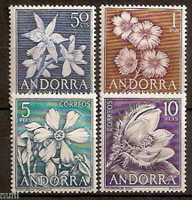 ANDORRA Edifil # 68-71 MNH Set Flora / flowers